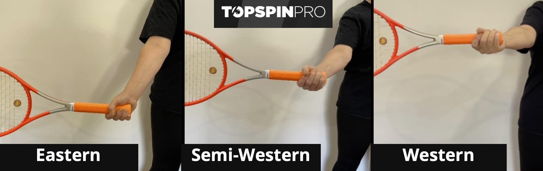 Forehand Grip Contact Point Front View
